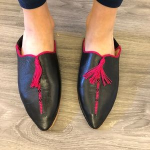 Real leather slip-ons from Morocco